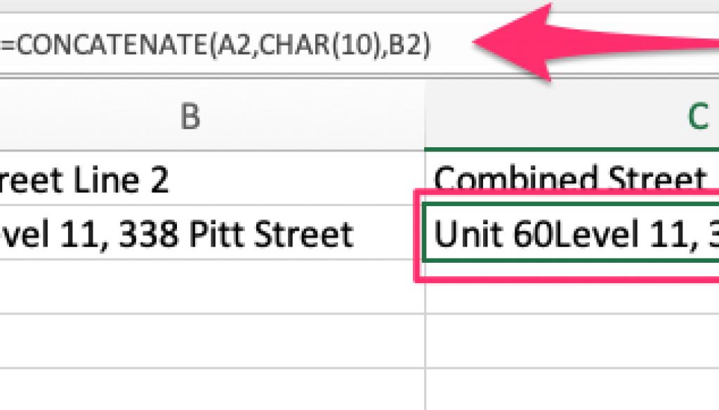 concatenate address for Salesforce